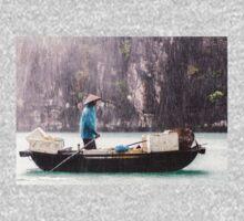 Rain & Rowboat: Life in Halong Bay, Vietnam  T-Shirt