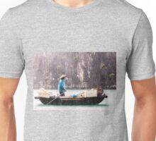 Rain & Rowboat: Life in Halong Bay, Vietnam  Unisex T-Shirt