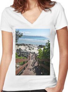 Stairway to Heaven #2 Women's Fitted V-Neck T-Shirt