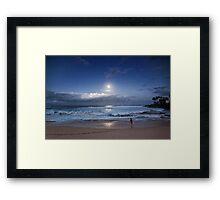 Full Moon Over Waimea Bay 2 Framed Print