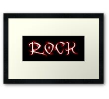 Rock (tribal style) Framed Print