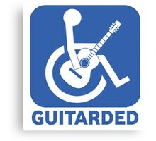 Funny Guitarded Sign Guitar Shirt Canvas Print