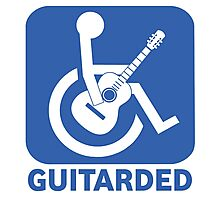 Funny Guitarded Sign Guitar Shirt Photographic Print