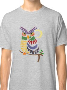 Cool Artistic Colorful Owl Abstract Art Original Classic T-Shirt