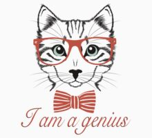 I'am a genius - Meow Edition. One Piece - Short Sleeve