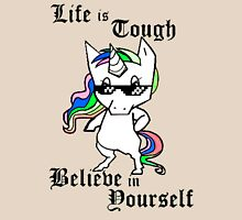 Unicorn Quote Life is Tough Believe in Yourself Women's Relaxed Fit T-Shirt