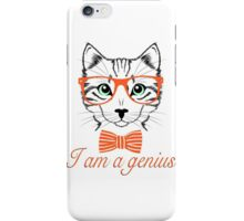 I'am a genius - Meow Edition. iPhone Case/Skin