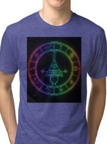 gravity falls Bill cipher wheel coloured Tri-blend T-Shirt