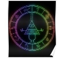 gravity falls Bill cipher wheel coloured Poster