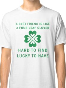 Best Friend Forever Clover BFF Graphic Print Novelty Classic T-Shirt