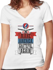 Make America Grateful Again Shirt  Women's Fitted V-Neck T-Shirt