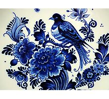 Delft porcelain Photographic Print
