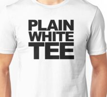 Plain White Tee (BLACK TEXT) Unisex T-Shirt