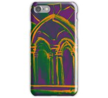 Watercolor sketch with classical window. iPhone Case/Skin
