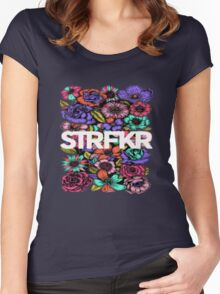 STRFKR flowers Women's Fitted Scoop T-Shirt