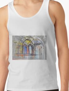 Watercolor sketch with classical window. Tank Top