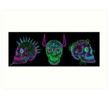skulls of hate V Art Print