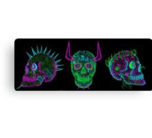 skulls of hate V Canvas Print