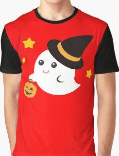 Cute Kawaii Ghost Halloween Print Graphic Funny Graphic T-Shirt