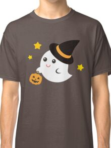 Cute Kawaii Ghost Halloween Print Graphic Funny Classic T-Shirt