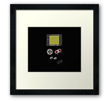 Video Retro Game Boy Console  Framed Print