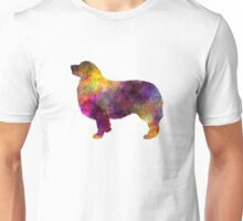 Australian Shepherd 01 in watercolor Unisex T-Shirt