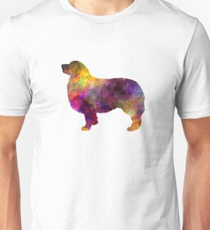 Australian Shepherd 01 in watercolor Unisex T-Shirt