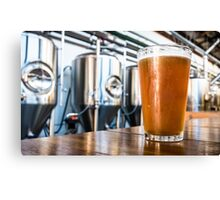 Beer at the Brewery Canvas Print