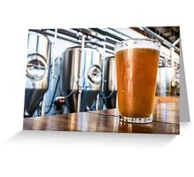 Beer at the Brewery Greeting Card
