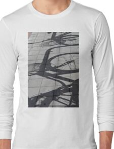 Bicycle shadow on the ground. Long Sleeve T-Shirt