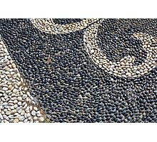 Floor texture with colorful decorative pebbles. Photographic Print