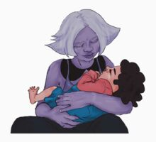 Amethyst and Steven (Semi Realism) Kids Tee