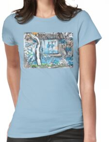Negombo Courtyard Womens Fitted T-Shirt