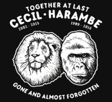 Cecil and Harambe One Piece - Short Sleeve