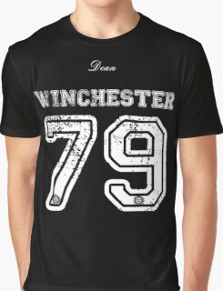 Team Dean Winchester white letters Graphic T-Shirt