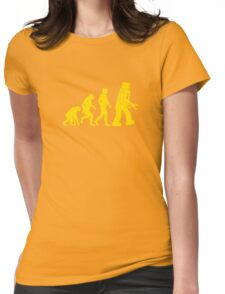 Robot Evolution Womens Fitted T-Shirt