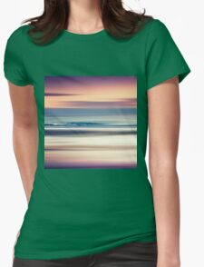 Sharing the Magic - abstract seascape at sunset Womens Fitted T-Shirt