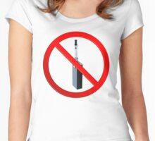 Vaping Forbidden Sign Women's Fitted Scoop T-Shirt