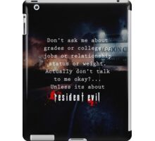 Resident Evil funny quote iPad Case/Skin