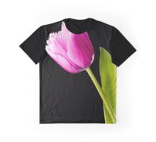 Pink Fringed Tulip Graphic T-Shirt
