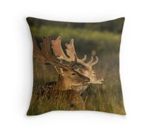 Two deer and the nature Throw Pillow