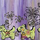 Doggie Garden by kewzoo
