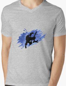 TEENAGE MUTANT NINJA TURTLE LEONARDO Mens V-Neck T-Shirt