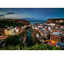 Dusk at Staithes Photographic Print