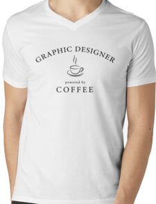 Graphic designer, powered by coffee Mens V-Neck T-Shirt