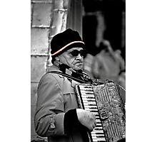 Street musician Photographic Print