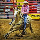 Barrel Racing - Horse and Rider - Fort Worth - Texas by TonyCrehan