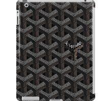 Goyard case black iPad Case/Skin