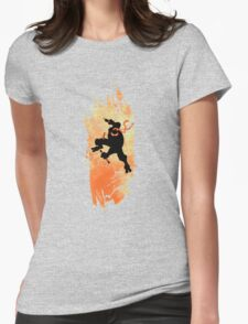 TEENAGE MUTANT NINJA TURTLE MICHELANGELO Womens Fitted T-Shirt