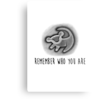 Remember Who You Are - The Lion King Metal Print